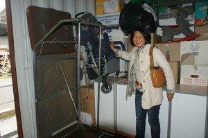 Cette poussette est destinée à ma petite Bopha de l'orphelinat des enfants handicapés !