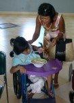 Ma petite Bopha voulait aussi me montrer qu'elle pouvait s'alimenter toute seule