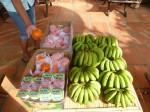 des bananes, des grsses clementines