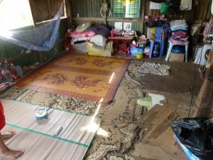 la chambre d'une des 2 familles à l'étage