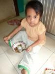Ena a bien grandi avec ses grands yeux. Sa nounou me dit qu'elle mange bien