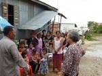 C'est la fin de la distribution, les villageois nous ont remercié.