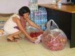 35 kgs de fruits pour tout le monde, c'est la saison donc moitié prix en ce moment !