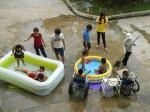 Le mercredi est ocnsacré à la piscine pour les tous les petits