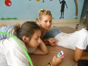 Break de repos pour les filles