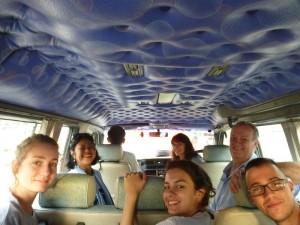 dans notre mini-van, une ptite photo-souvenir