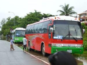 L'arrivée à Sihanoukville