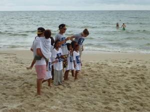 Après, on a joué sur la plage