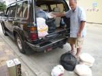 Notre voiture est chargée prête à partir + 2 tuktuks